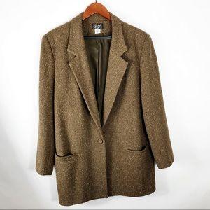 KGR Vintage 100% Wool Blazer Long Size 16